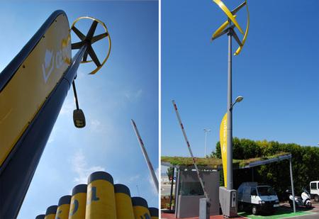 La primera estación eólica de carga de vehículos está instalada en Barcelona