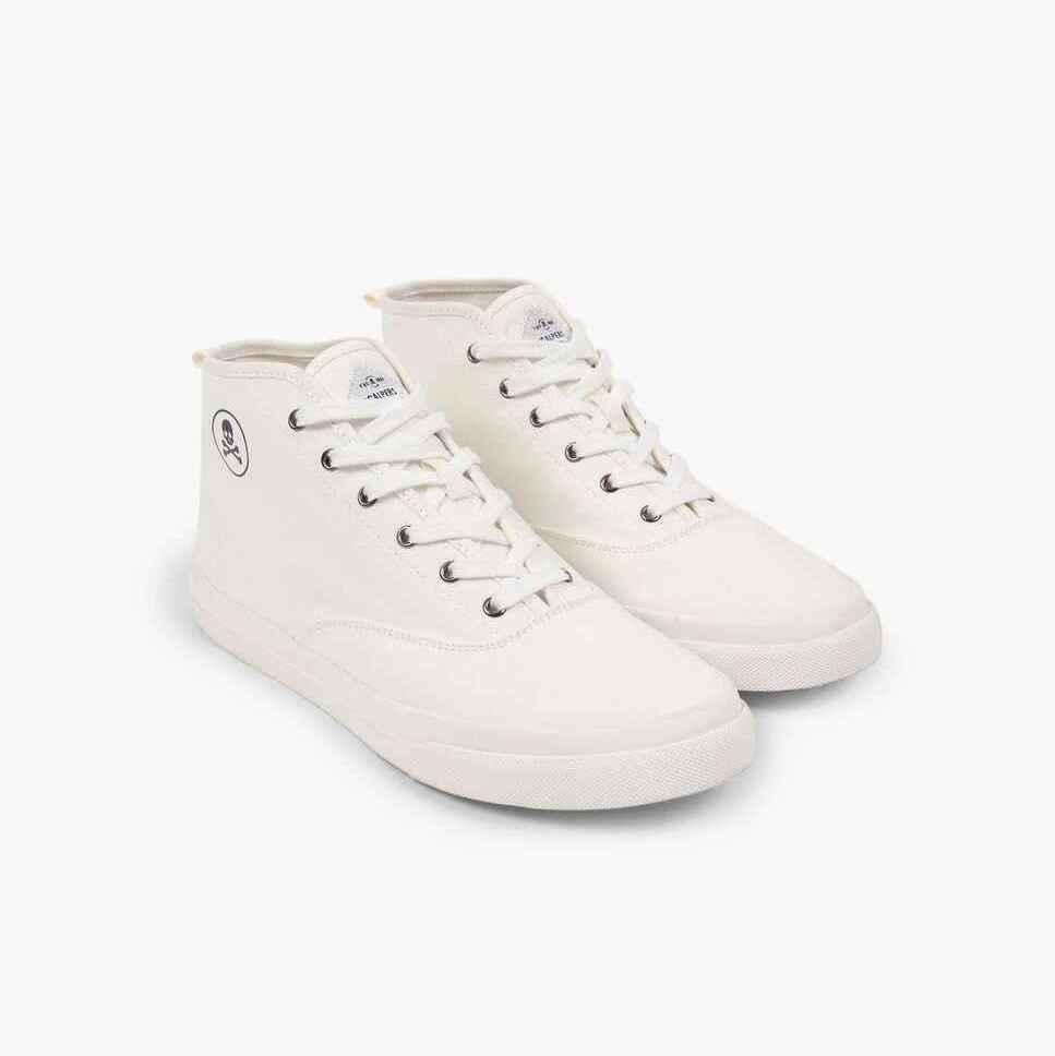 Zapatillas de lona de hombre Scalpers de caña alta con cordones y detalle de calavera