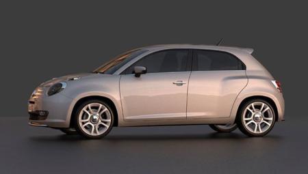 Fiat 600 Design Concept Lateral