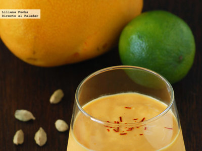Lassi o batido de yogur y mango. Receta