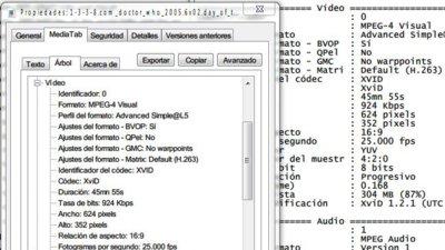 MediaTab nos pone información avanzada de audio y vídeo integrada en Windows