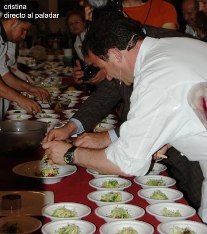 Martin Berasategui como jurado del concurso de ensaladas Florette