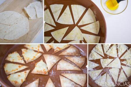 Nachos dulces y salados - elaboración