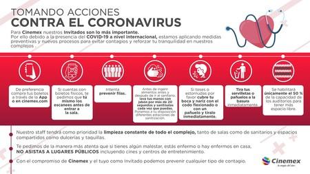 Coronavirus Covid 19 Mexico Acciones Cinemex
