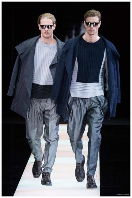 Giorgio Armani Menswear Fall Winter 2015 Collection Milan Fashion Week 002