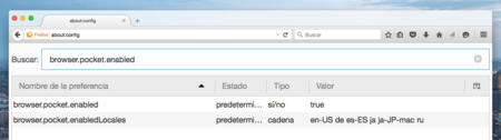 Desactivar Pocket Firefox