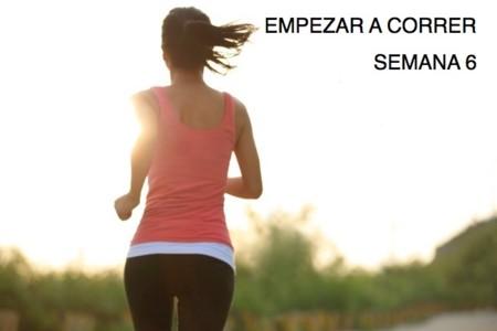 Entrenamiento para empezar a correr: semana 6