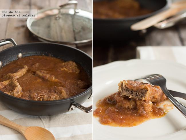 Lengua de ternera en salsa receta - Como rellenar un redondo de ternera ...