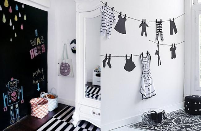 Habitaciones infantiles en blanco y negro - Decorar dormitorio blanco ...