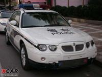 Coches de policía chinos: MG 7, basado en el MG ZT