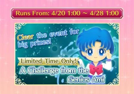 Apúrate a terminar el reto de Ami en Sailor Moon Drops