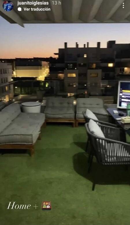 La terraza de Estela Grande y Juanito Iglesias