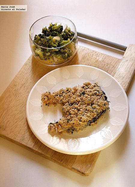 Salmón al horno con costra de mostaza y perejil, receta fácil y rápida de Lorraine Pascale