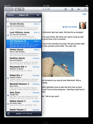 ipad mail apple