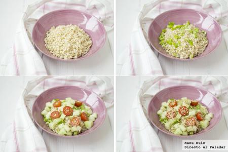esalada de arroz y melón
