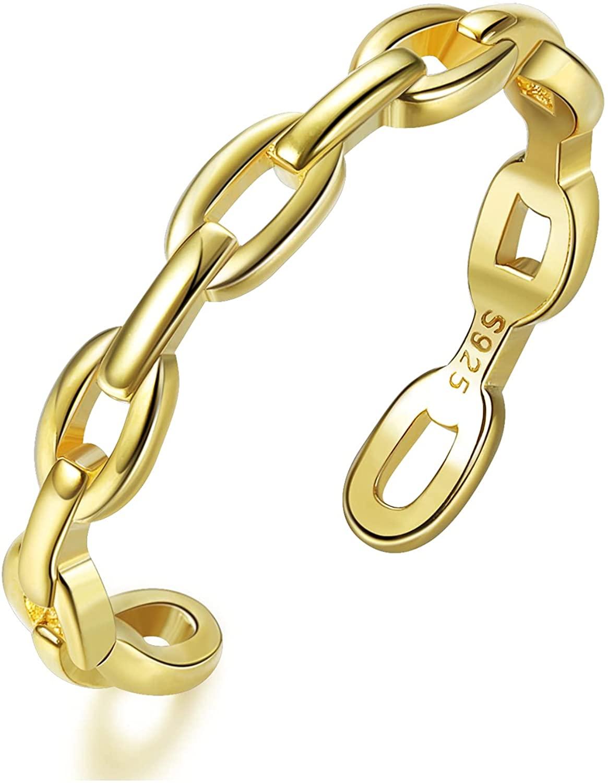 Anillo de eslabones en forma de cadena de Lolias
