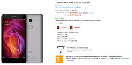 Xiaomi Redmi Note 4 Amazon Precio