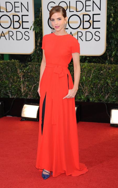 Emma Watson Dior Globos Oro 2014 pantalon