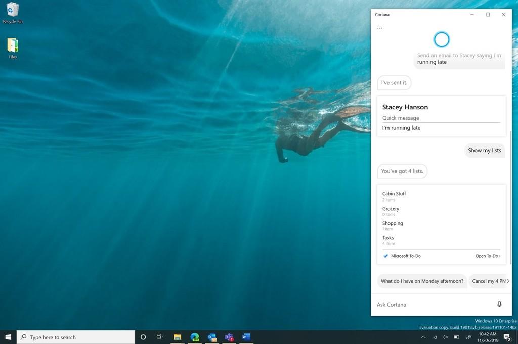 ¿Trabaja Microsoft℗ en aumentar el control por voz o están pensando en un sustituto para Cortana?