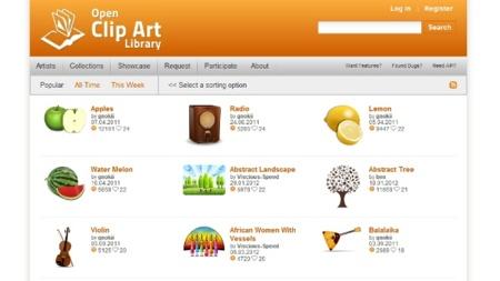 Open Clipart Library: imágenes de todo tipo en formato SVG