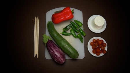 Brochetas verduras siken - ingredientes