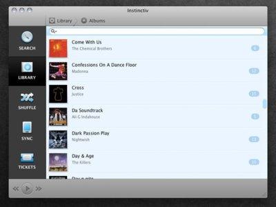 Instinctiv, un reproductor y gestor de dispositivos como alternativa a iTunes