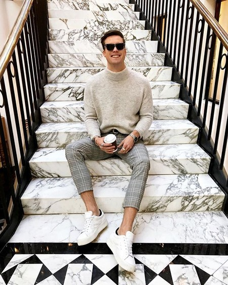 Beige White Men Street Style Spring Summer 2020 Trendencias Hombre 02