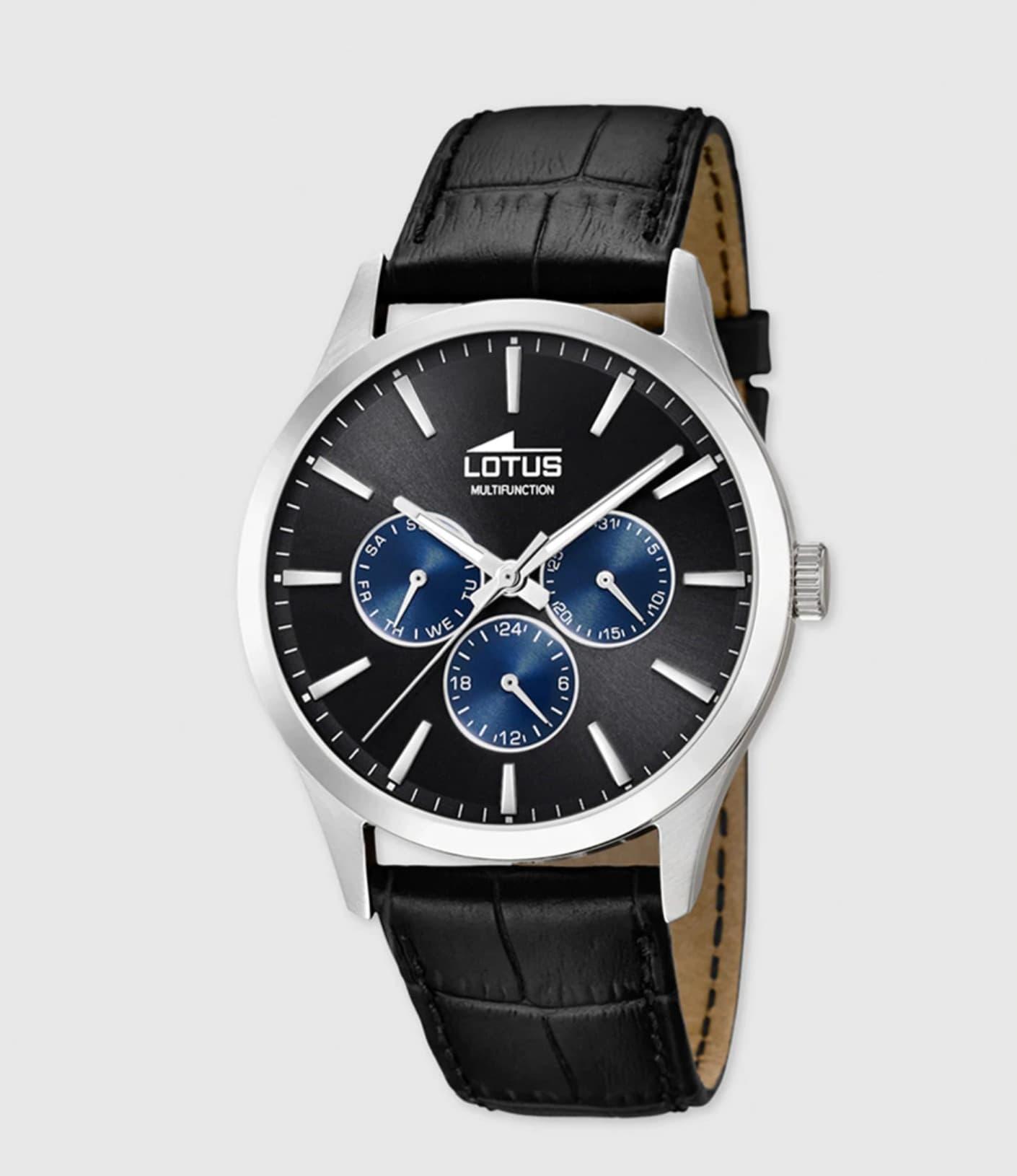 Reloj de hombre Lotus 18576/6 Minimalist de piel negro