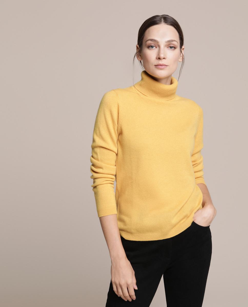 Jersey de mujer 100% Cashmere con cuello cisne