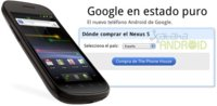 Google Nexus S, ya disponible para España