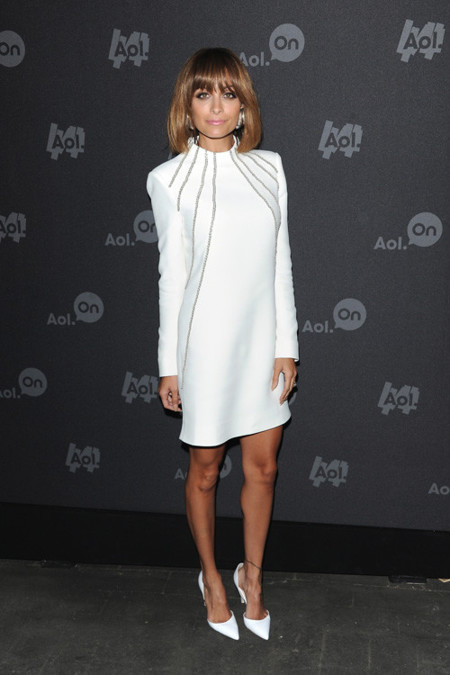 Nicole Richie Look blanco
