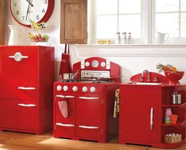 Una cocinita retro para niños