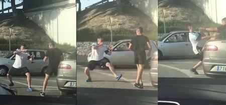 La mejor exhibición de kung fu que vas a ver jamás ha tenido lugar esta mañana en una rotonda de Málaga