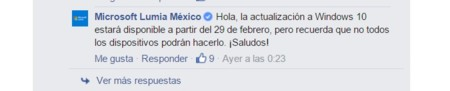 Microsoft Lumia Mexico Fecha Windows 10 Mobile