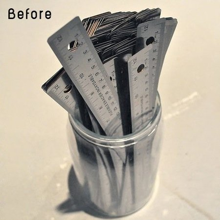 Recicladecoración: un espejo hecho con reglas