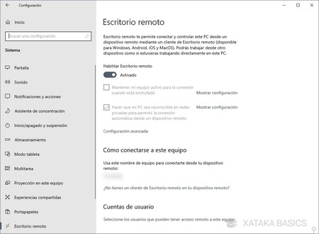 Escritorio Remoto Windows