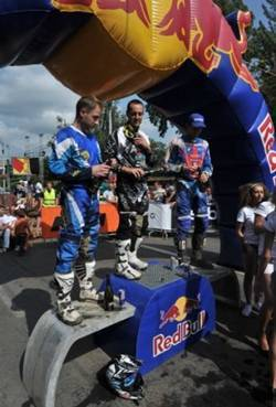 Podium prologo Red Bull Romaniacs