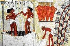 Los egipcios también elaboraban vino blanco