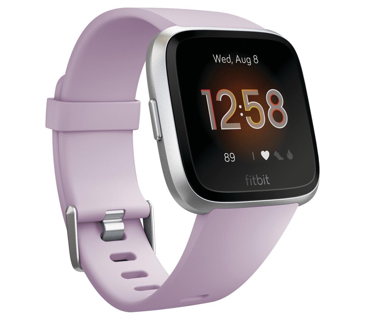 FITBIT Reloj inteligente Smartwatch Fitbit Versa Lite Lila/ Silver Aluminum