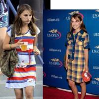 Natalie Portman y sus looks en el Abierto de Estados Unidos