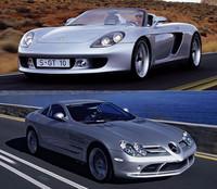 Mercedes SLR Mclaren contra Porsche Carrera GT