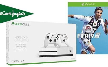 Packs Xbox con FIFA 19 de regalo y 50 euros de descuento en El Corte Inglés