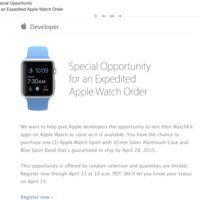 Apple ofrece a los desarrolladores la posibilidad de adquirir un Apple Watch para el 28 de abril