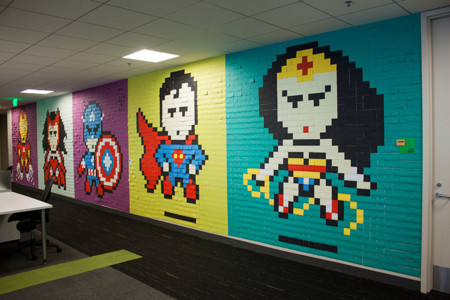 Office Wall Post It Art Superheroes Ben Brucker 24