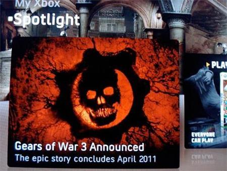 'Gears of War 3' anunciado para abril de 2011 por un despiste en Xbox Live