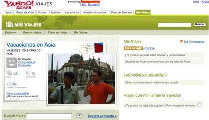 Yahoo! Viajes presenta la red social Mis Viajes