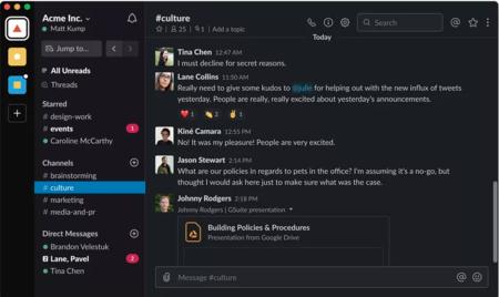 Slack anuncia la llegada del modo oscuro a su app para Mac