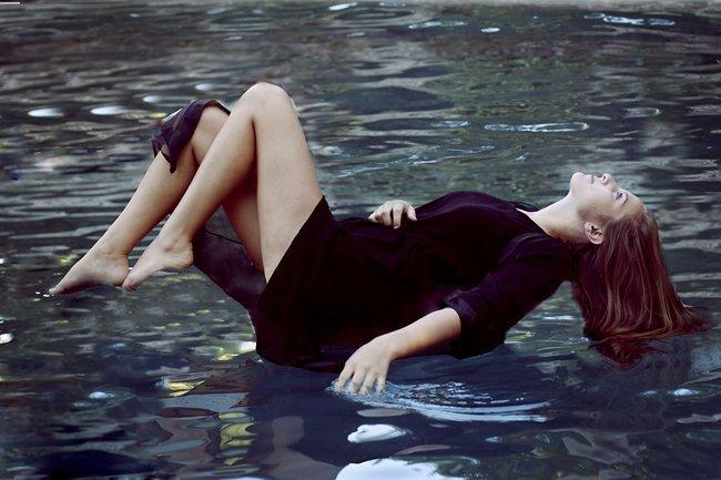 Agua moda levitar