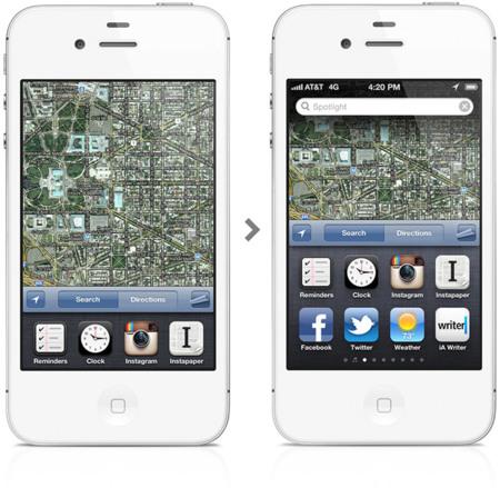 iOS 6. Mockup de la barra de multitarea