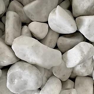 Saco de piedra calcárea rodada Blanco 20 kg 40 y 60 mm